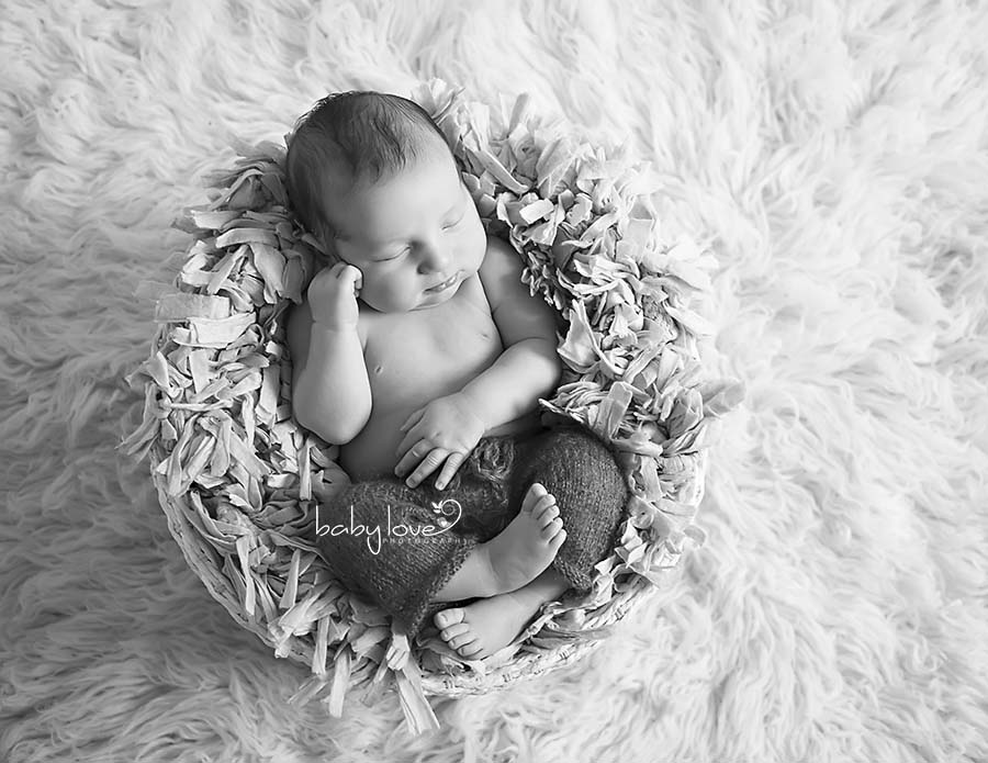 Sleeping newborn boy photographer macomb michigan